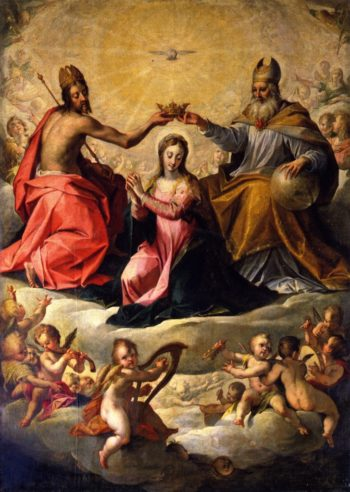 The Coronation of the Virgin | Hans von Aachen | oil painting