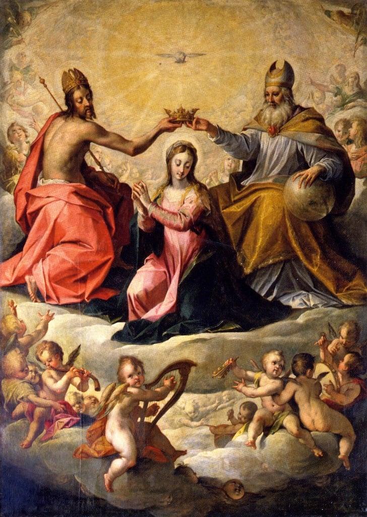 The Coronation of the Virgin | Hans von Aachen | oil painting