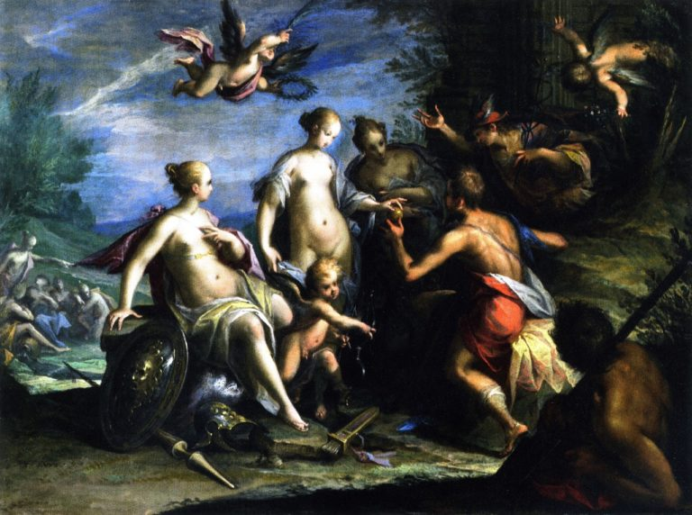 The Judgement of Paris | Hans von Aachen | oil painting