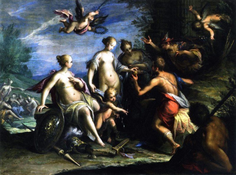The Judgement of Paris | Hans von Aachen | oil painting