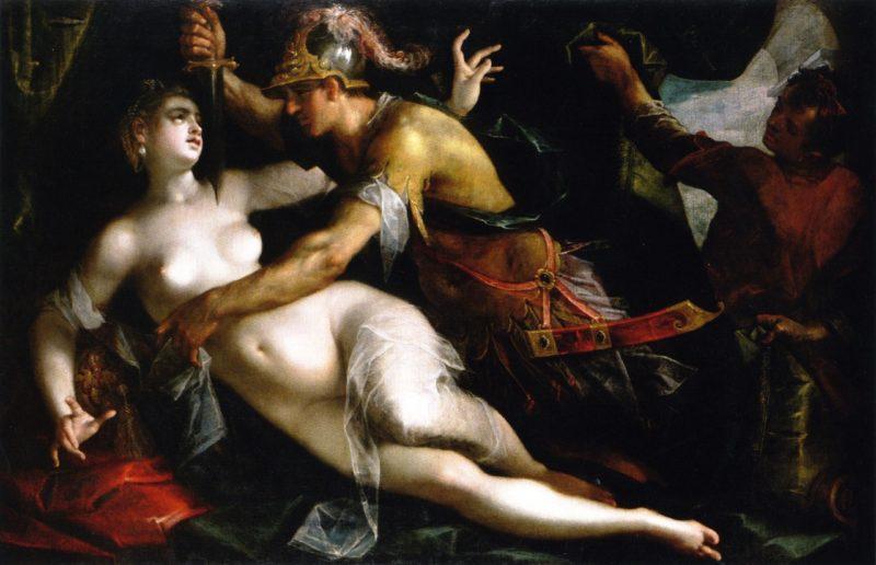 The Rape of Lucretia | Hans von Aachen | oil painting