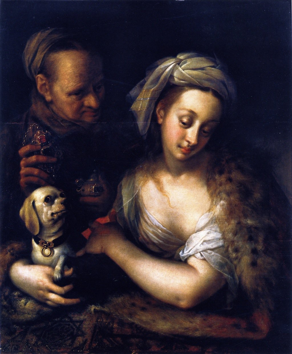 A Courtesan with Her Procuress...