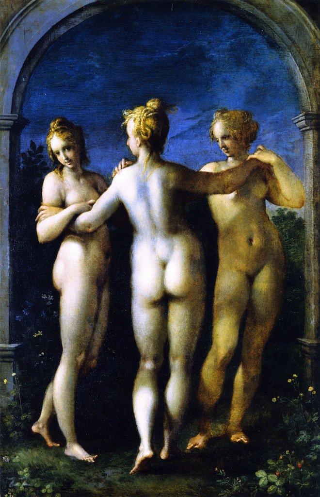 The Three Graces | Hans von Aachen | oil painting