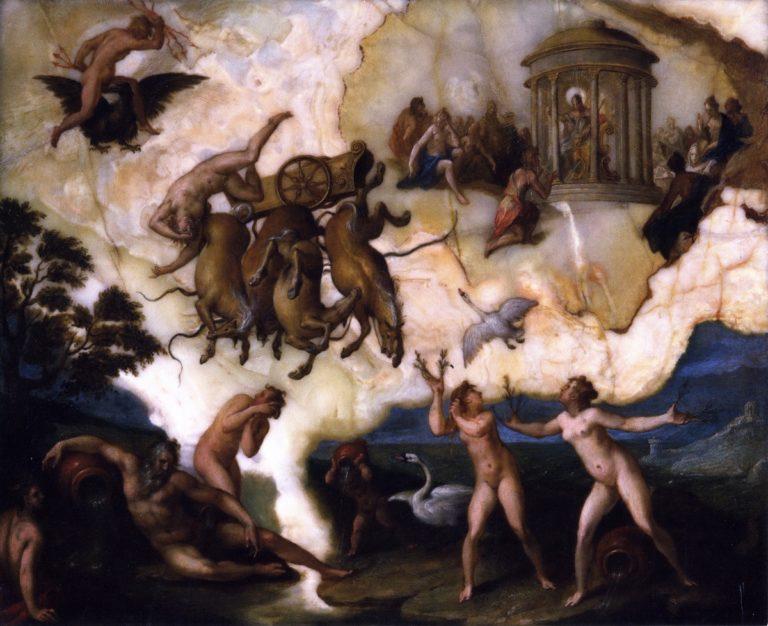 The Fall of Phaeton | Hans von Aachen | oil painting