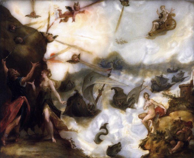 Aeolus Releasing the Winds | Hans von Aachen | oil painting