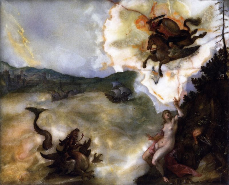 Perseus and Andromeda | Hans von Aachen | oil painting