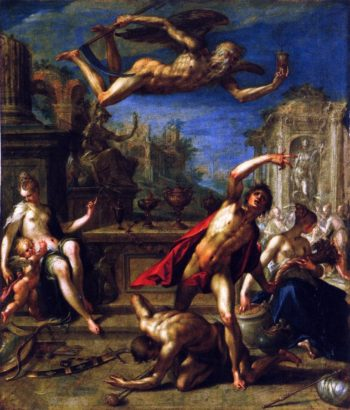 Allegory of Rulership The Return of the Golden Age under Saturn | Hans von Aachen | oil painting