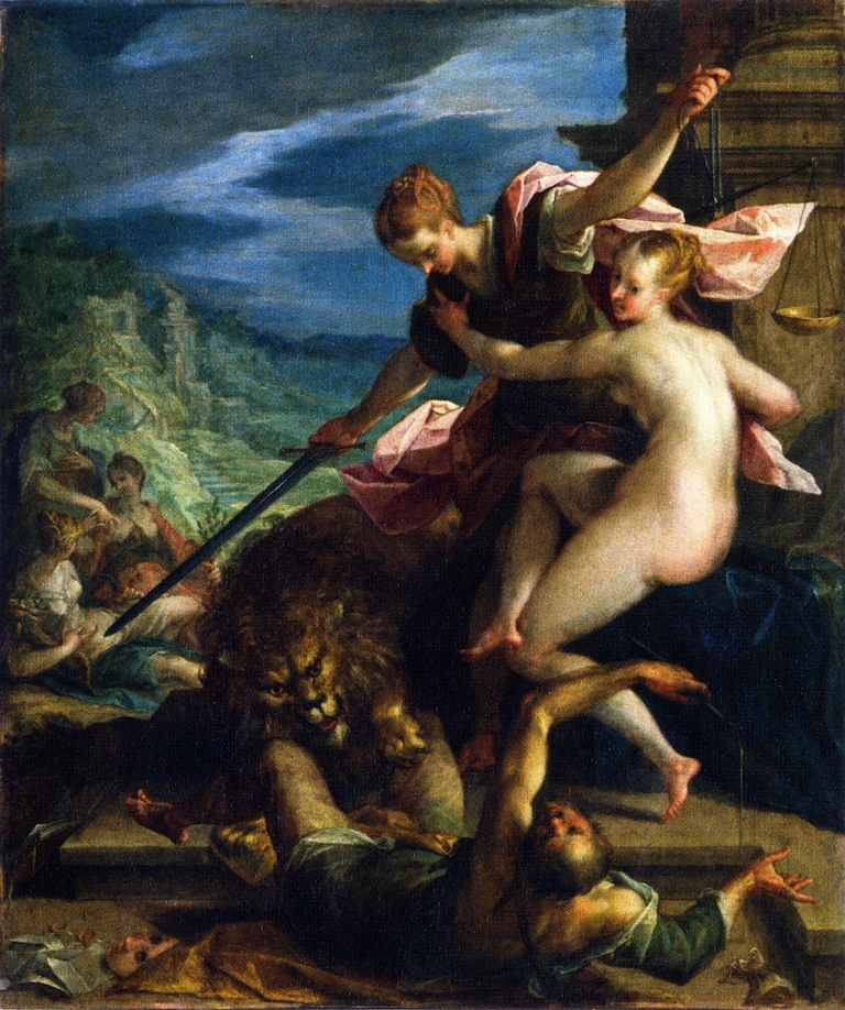 Allegory The Return of the Golden Age | Hans von Aachen | oil painting