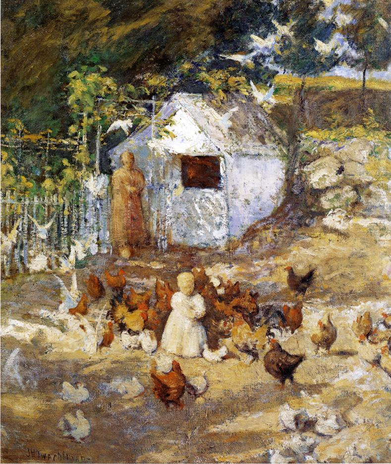 Barnyard | John Twachtman | oil painting