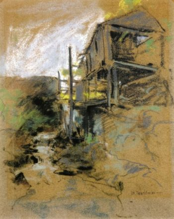 Abandoned Mill Branchville Connecticut | John Twachtman | oil painting