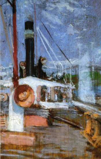 Aboard a Steamer | John Twachtman | oil painting
