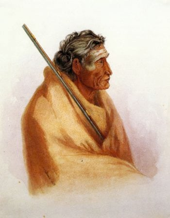 The Word of Life an Old Piegan in Mourning | Karl Bodmer | oil painting