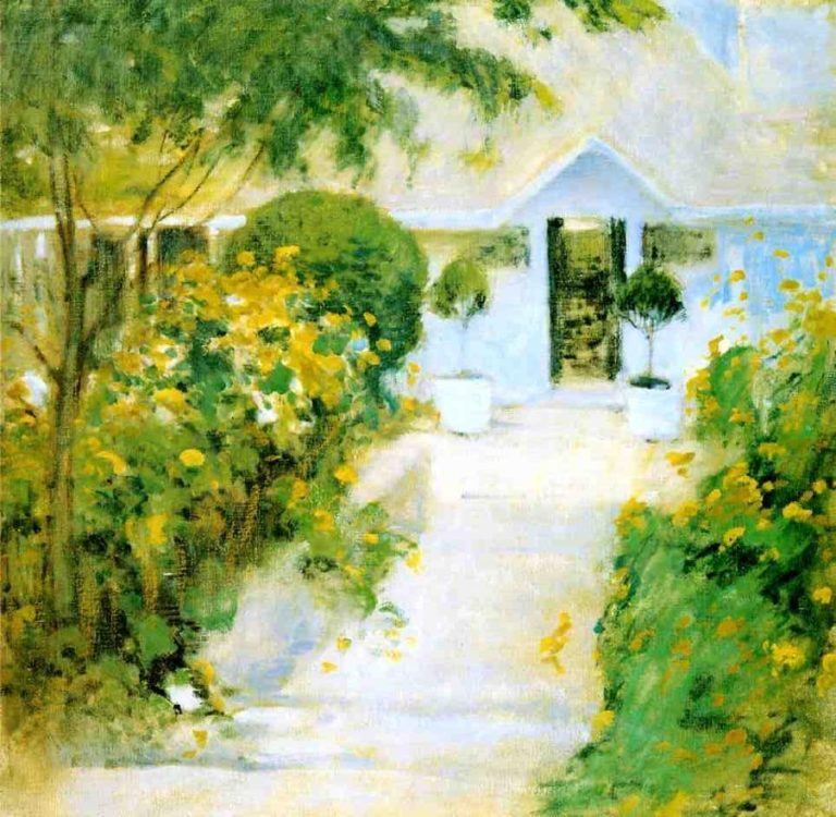 A Garden Path | John Twachtman | oil painting