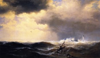 Shipwrecked | Edward Moran | oil painting