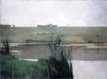 Arques la Bataille | John Twachtman | oil painting