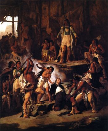 Pocahontas and John Smith | Victor Nehlig | oil painting