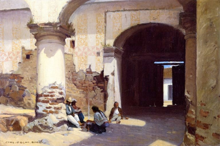 Open Door at the Governors Palace | Carl Oscar Borg | oil painting