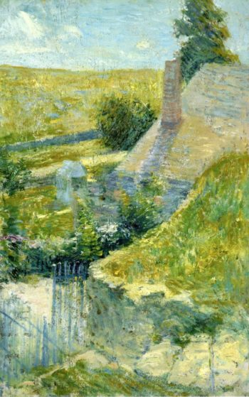 Artist's Home Seen from the Back | John Twachtman | oil painting