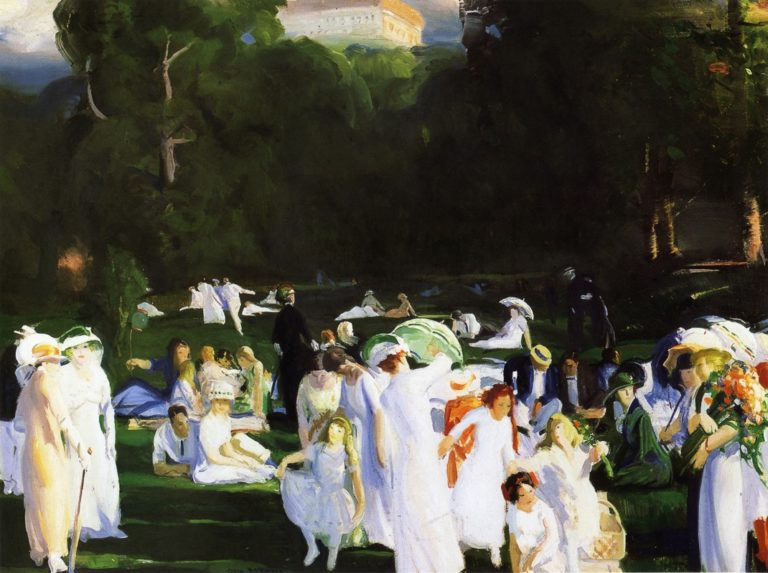 A Day in June | George Wesley Bellows | oil painting