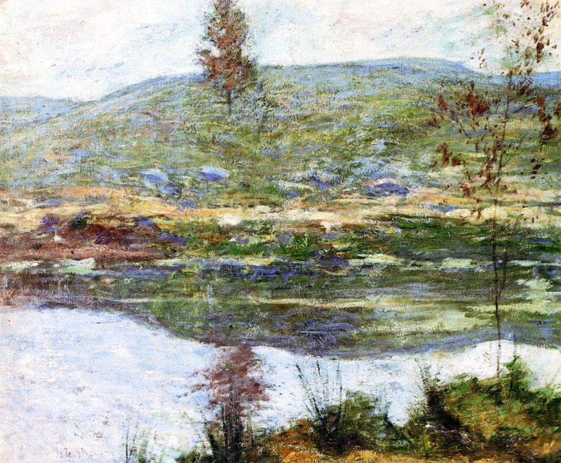 Autumn Mists | John Twachtman | oil painting