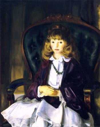 Anne in Purple Wrap | George Wesley Bellows | oil painting