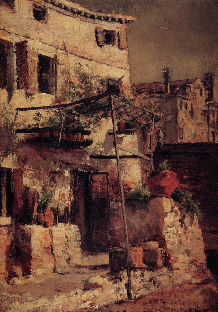 A Venetian Scene   John Twachtman   oil painting