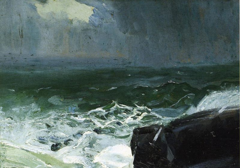 Approach of Rain   George Wesley Bellows   oil painting