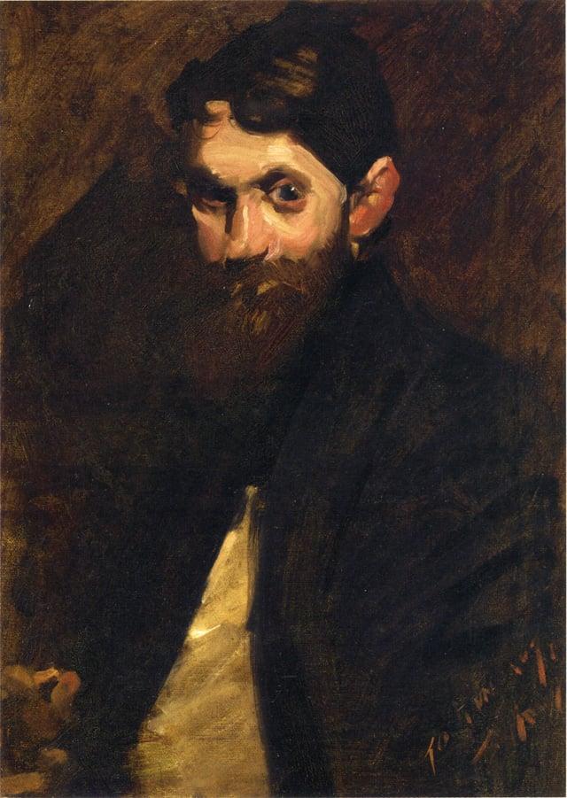 August Lundberg   George Wesley Bellows   oil painting