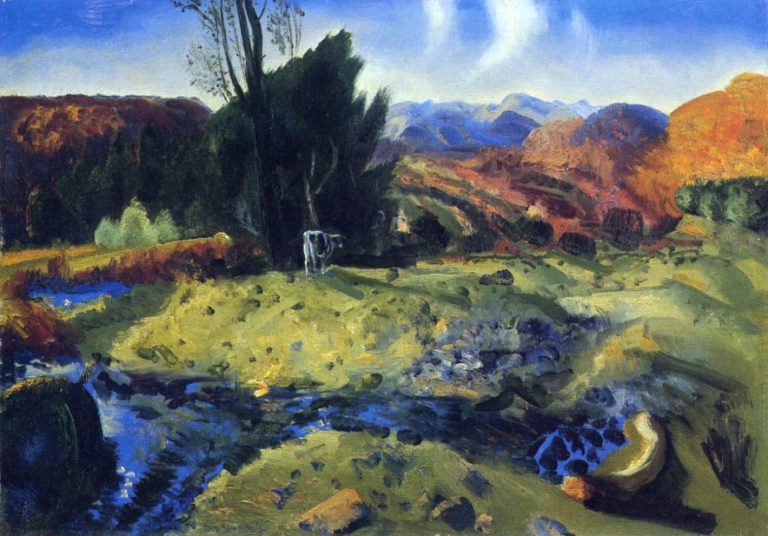 Autumn Brook | George Wesley Bellows | oil painting