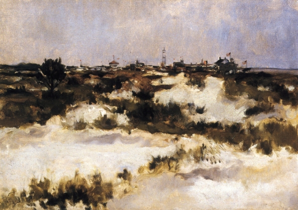Back of Coney Island | John Twachtman | oil painting