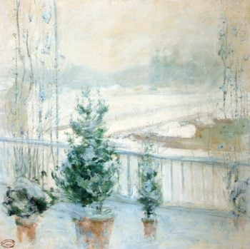Balcony in Winter | John Twachtman | oil painting