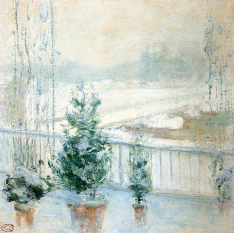 Balcony in Winter | John Twachtman | oil painting