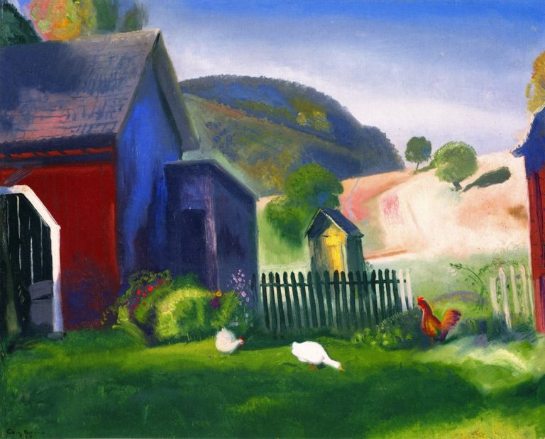 Barnyard and Chickens | George Wesley Bellows | oil painting
