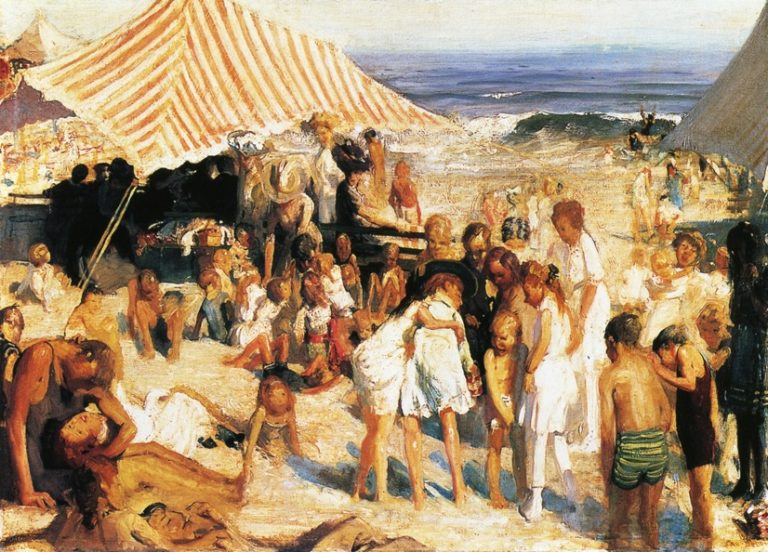 Beach at Coney Island | George Wesley Bellows | oil painting