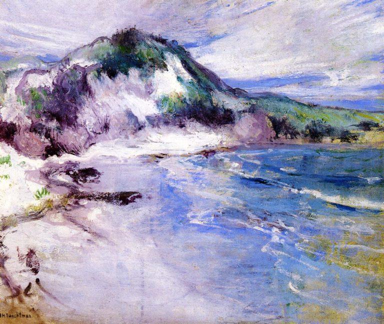 Beach at Squam | John Twachtman | oil painting