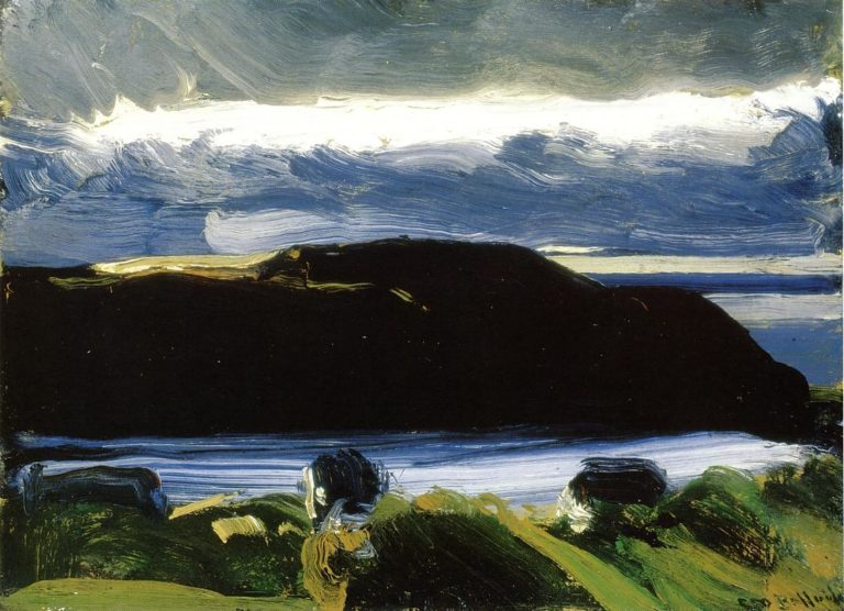Breaking Sky Monhegan   George Wesley Bellows   oil painting