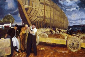 Builders of Ships | George Wesley Bellows | oil painting