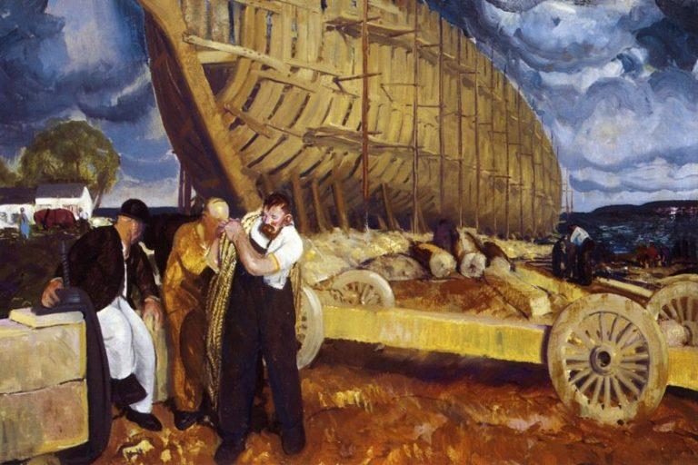 Builders of Ships | George Wesley Bellows | oil painting