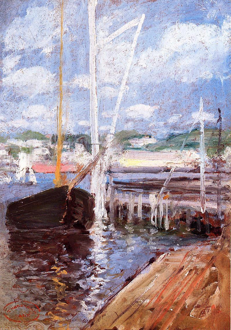 Boat Landing | John Twachtman | oil painting