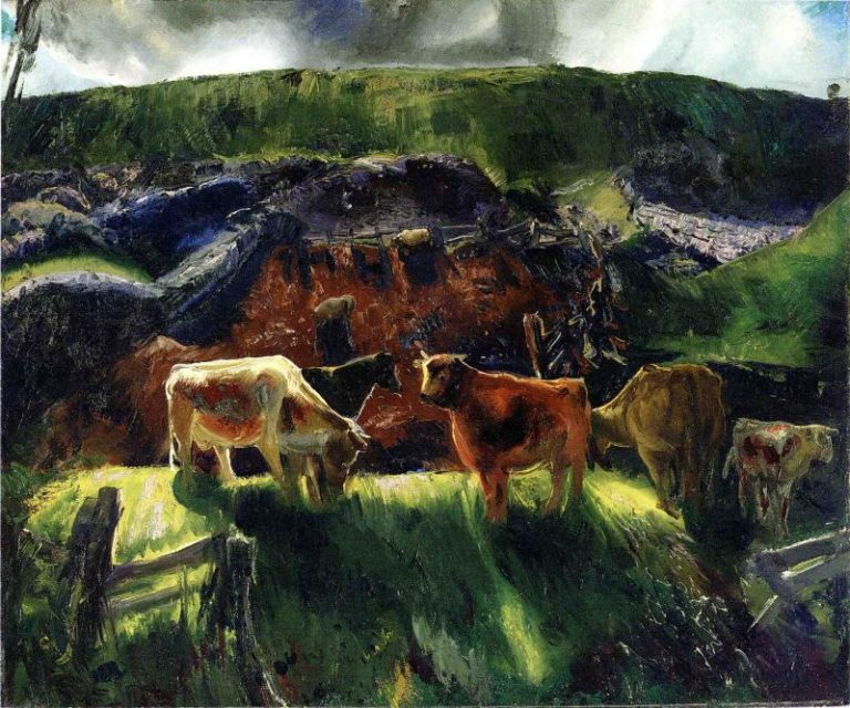 Cattle and Pig Pen | George Wesley Bellows | oil painting