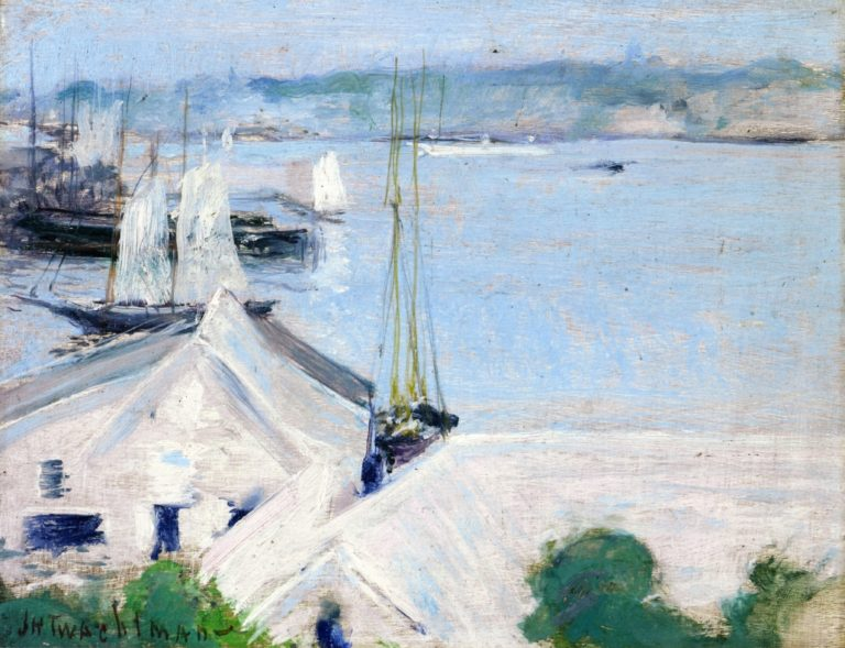 Boats at Anchor | John Twachtman | oil painting