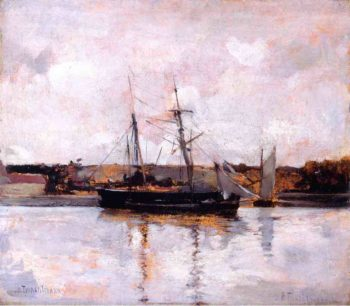 Boats at Dieppe | John Twachtman | oil painting
