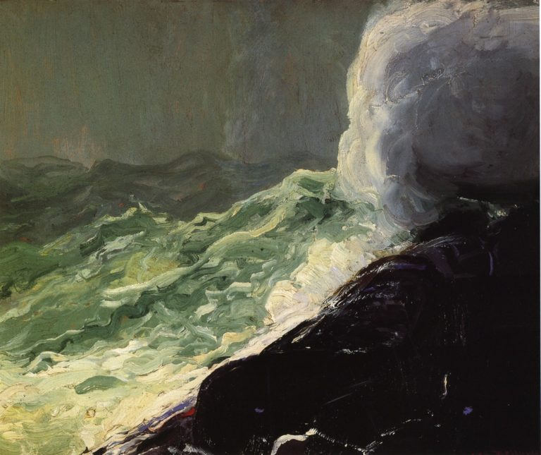 Churn and Break   George Wesley Bellows   oil painting