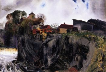 Cliffs at Eddyville | George Wesley Bellows | oil painting