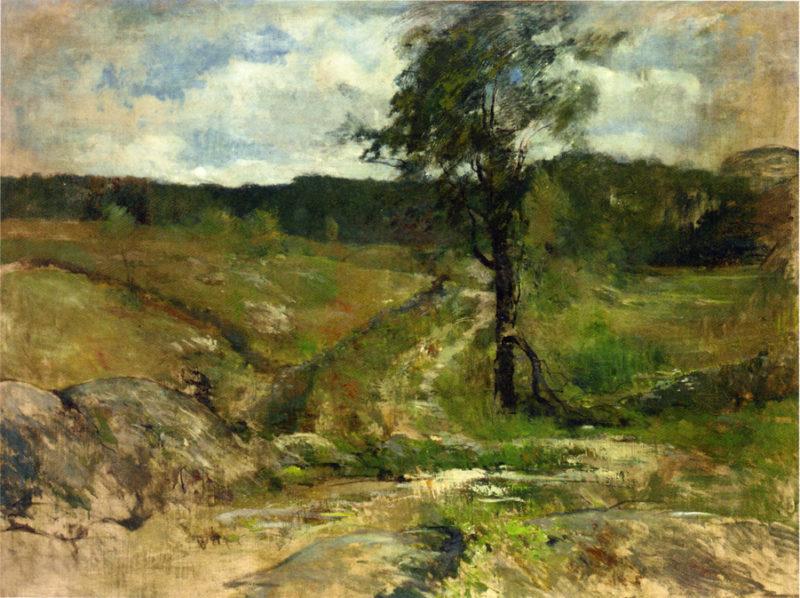 Branchville   John Twachtman   oil painting
