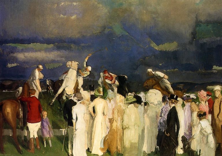 Crowd at the Polo Game | George Wesley Bellows | oil painting