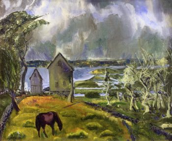 Dead Orchard Newport Rhode Island | George Wesley Bellows | oil painting
