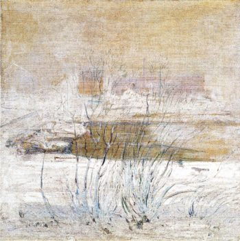 Bridge in Winter | John Twachtman | oil painting