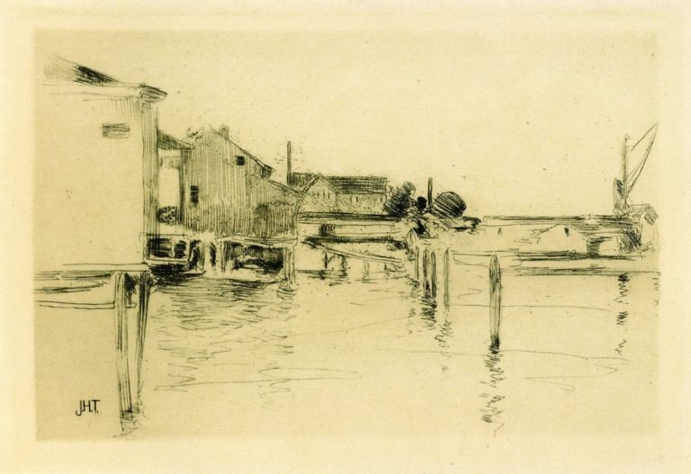 Bridgeport | John Twachtman | oil painting
