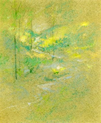 Brook among the Trees | John Twachtman | oil painting